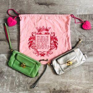 Juicy Couture Bundle Genuine Leather Wristlets